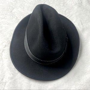 Scala black Wool Felt Fedora Hat Man Classico XL